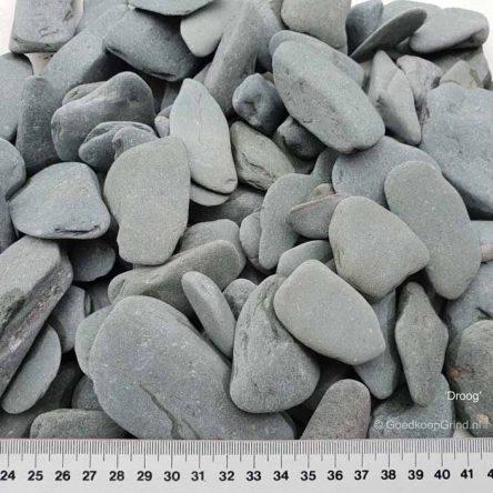 Flat Pebbles 30/60mm Groen big bag